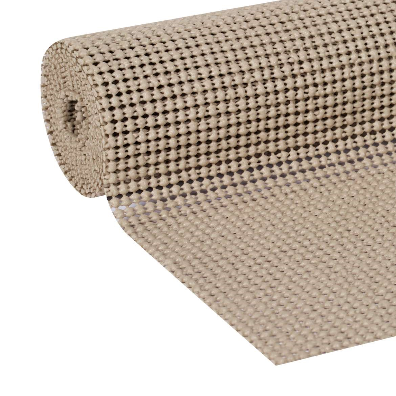Duck Select Grip 20 In. x 6 Ft. shelf Liner, Brownstone
