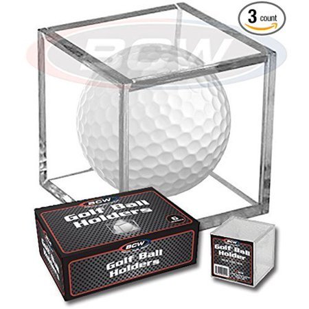(3) Golf Ball Display Case Stackable Square Cube Holder Display Stand by By