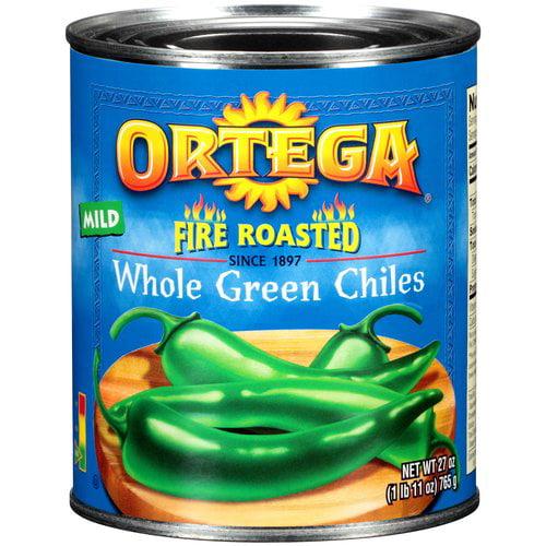 Ortega Original Fire Roasted Whole Green Chiles, 27 oz