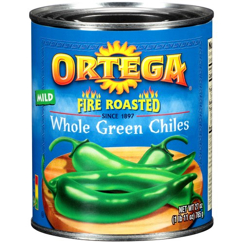 Ortega Original Fire Roasted Whole Green Chiles, 27 oz
