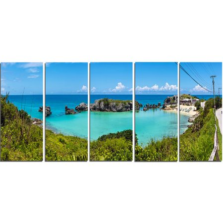 True Blunt Tobacco Wraps (Design Art Tobacco Bay Panorama 5 Piece Photographic Print on Wrapped Canvas)