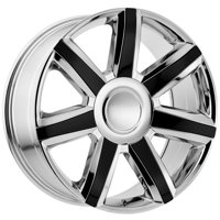 "OE Creations 164CG 22x9 6x5.5"" +24mm Chome/Black Wheel Rim 22"" Inch"