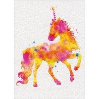 Avanti Press Unicorn Birthday Candle A*Press Feminine Birthday Card