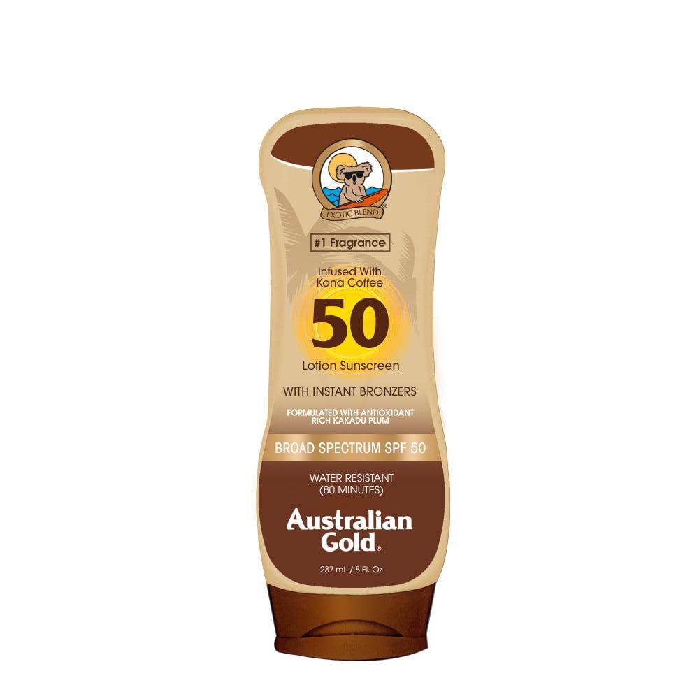 Australian Gold SPF 50 Lotion Sunscreen w/ Instant Bronzers, 8 FL OZ