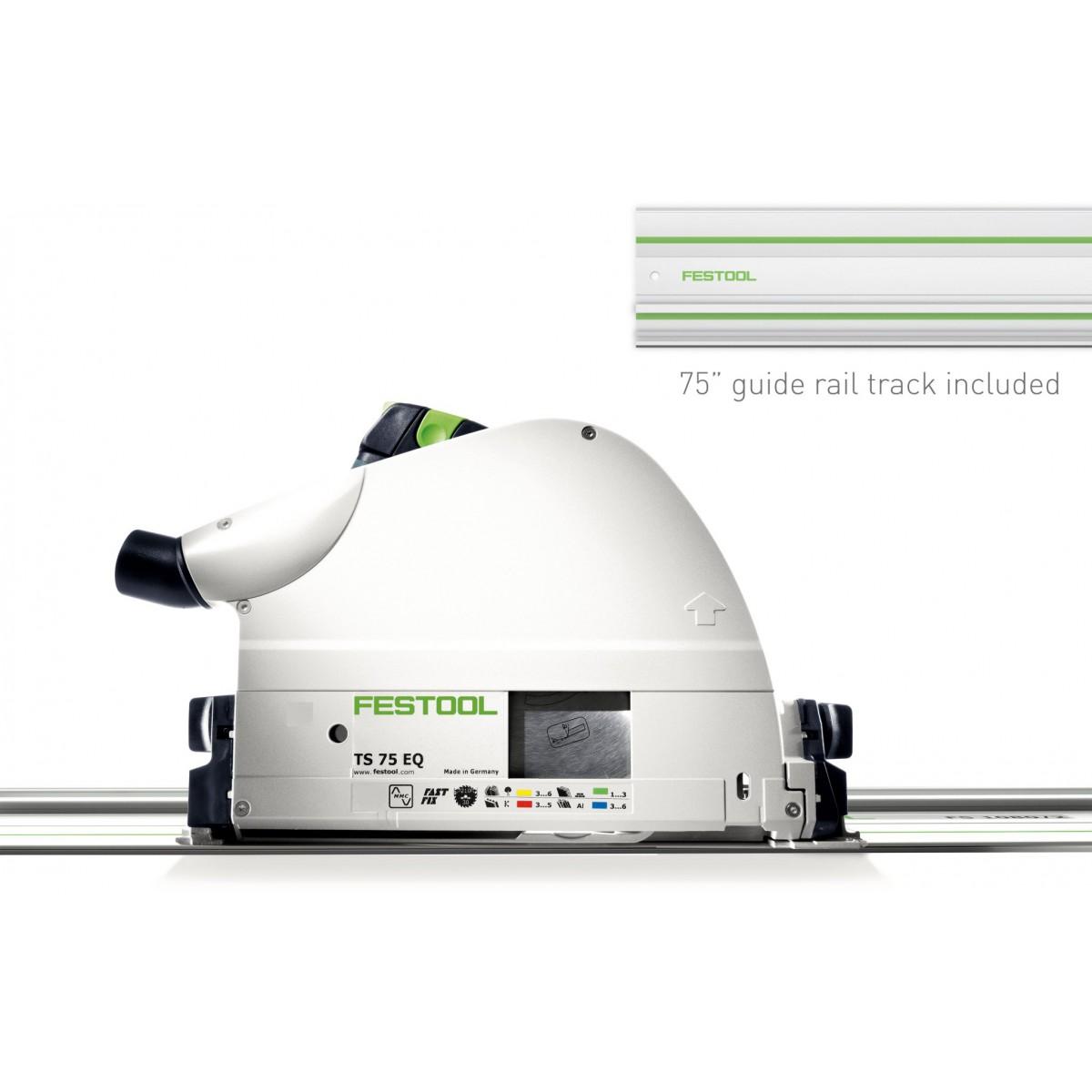 Festool 574684 TS 75 EQ Plunge Cut Track Circular Saw, Im...