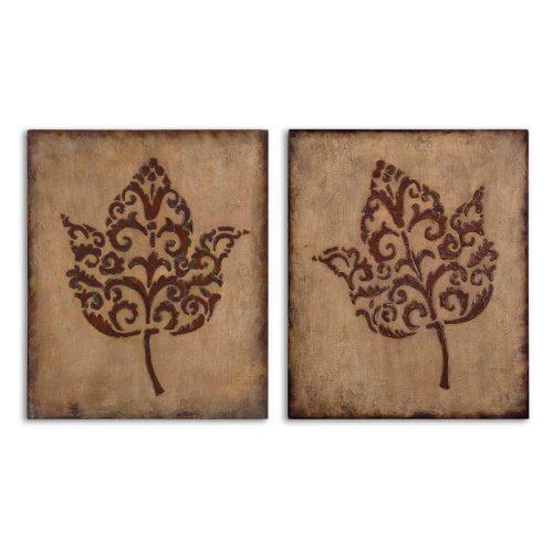 Uttermost Decorative Leaves Set of 2 - 13732