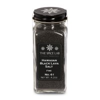 The Spice Lab No. 61 - Hawaiian Black Lava Salt - Fine - Kosher Gluten-Free Non-GMO All Natural Premium Gourmet Salt - French Jar