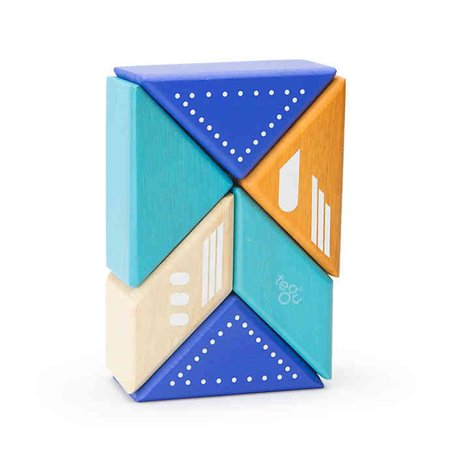 Travel Pals 6-Piece Jet Wooden Block Set by Tegu - image 3 of 10