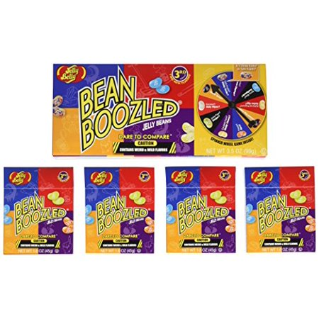 Jelly Belly Beanboozled Jelly Beans Spinner Game and 4 Refill 1.6 Oz Boxes - Bean Boozeled