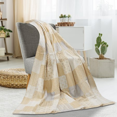 LR Home Kantha Handmade Cream 50
