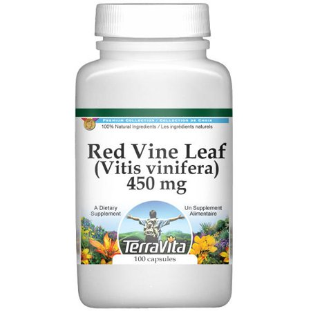 Red Vine Leaf (Vitis vinifera) - 450 mg (100 capsules, ZIN: (Vite Supplement)