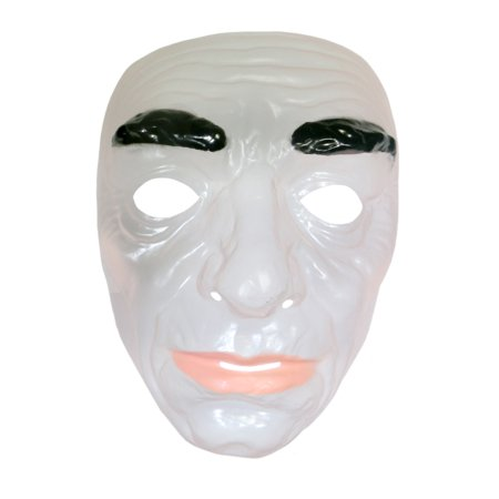 Mask Transparent Clear Face Adult Costume Accessory Plastic - Zipper Face Halloween Mask