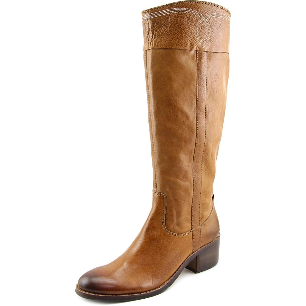 Donald J Pliner Willi Women Round Toe Leather Brown Knee High Boot by Donald J Pliner