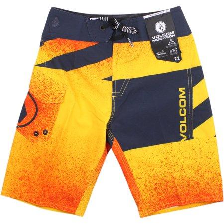 60aa2ab351 Volcom - Volcom Logo Party Pack Mod Boardshorts Bright Orange - Walmart.com