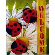 "Ladybug Welcome Spring House Flag New Creative 28"" x 40"" Everyday Seasonal"