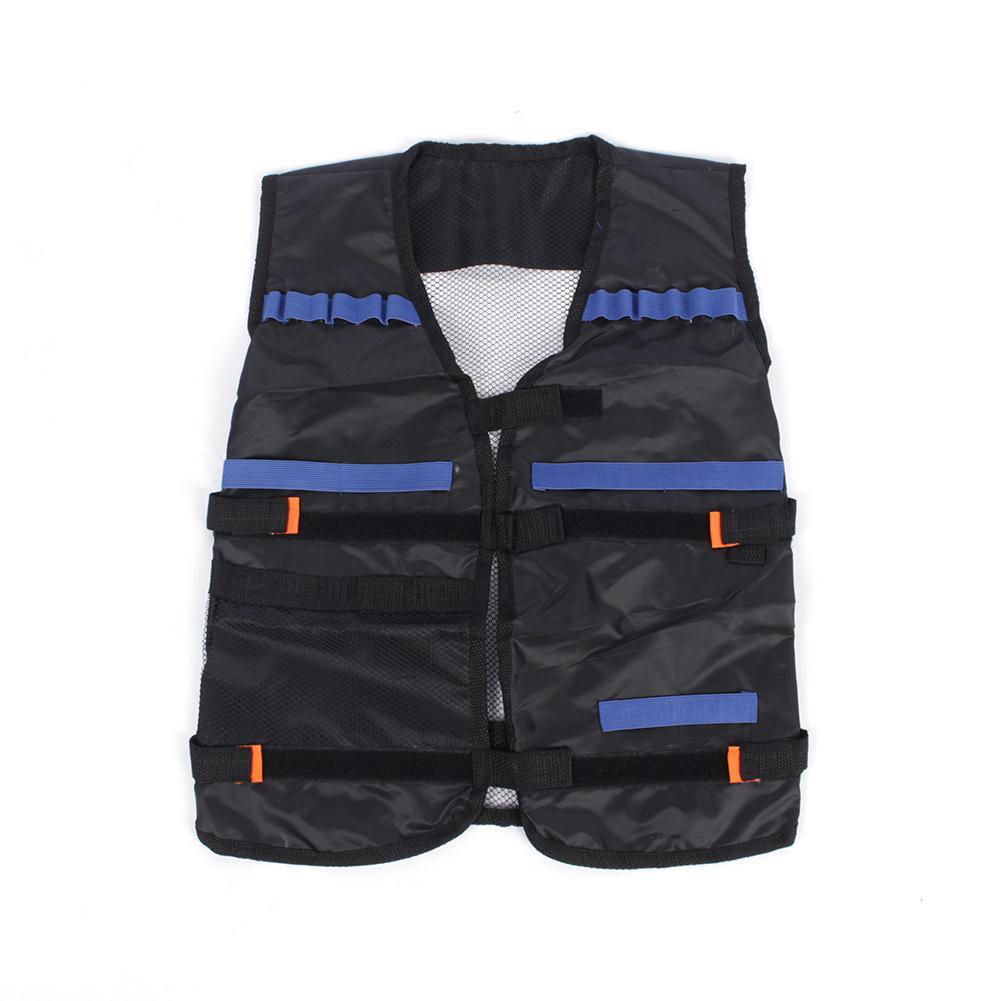 Tactical Vest Jacket w  Pockets Kids Gun Dart For Nerf N-Strike Elite Game Gift by Yosoo