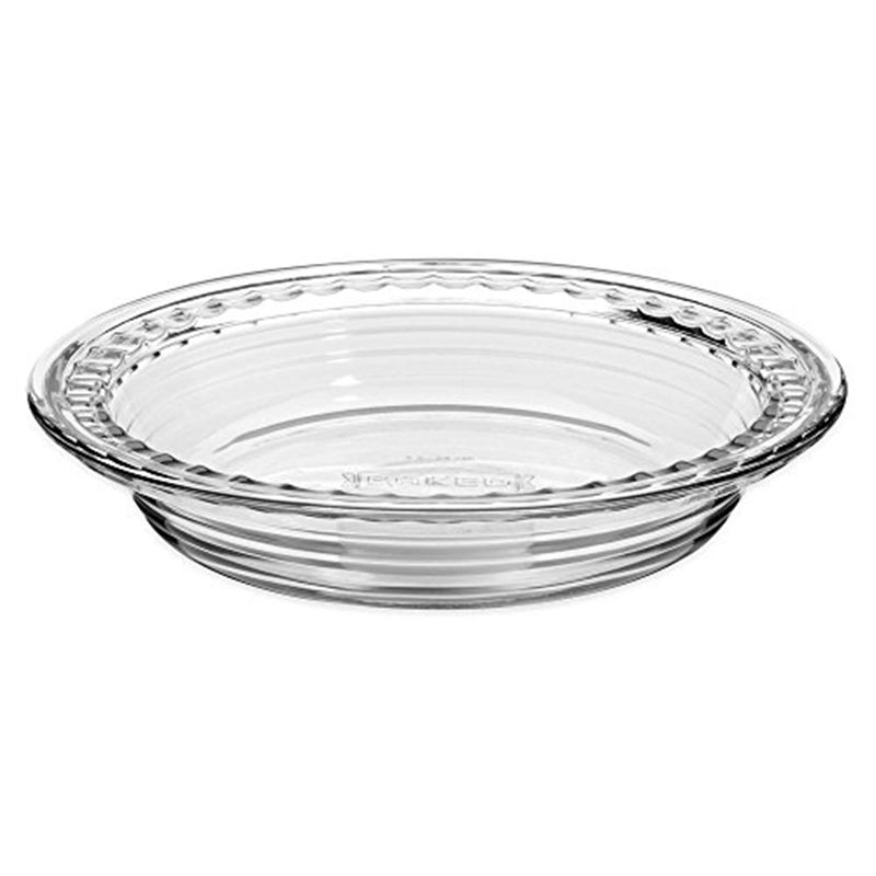 Anchor Hocking Glass 9.5 Inch Deep Pie Plate with Wide Fluted Edge
