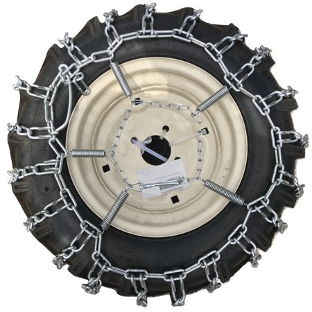Snow Chains 5.30 x 6, 5.30 6 Tractor Tire Chains w/Spring Tensioners - image 4 de 5