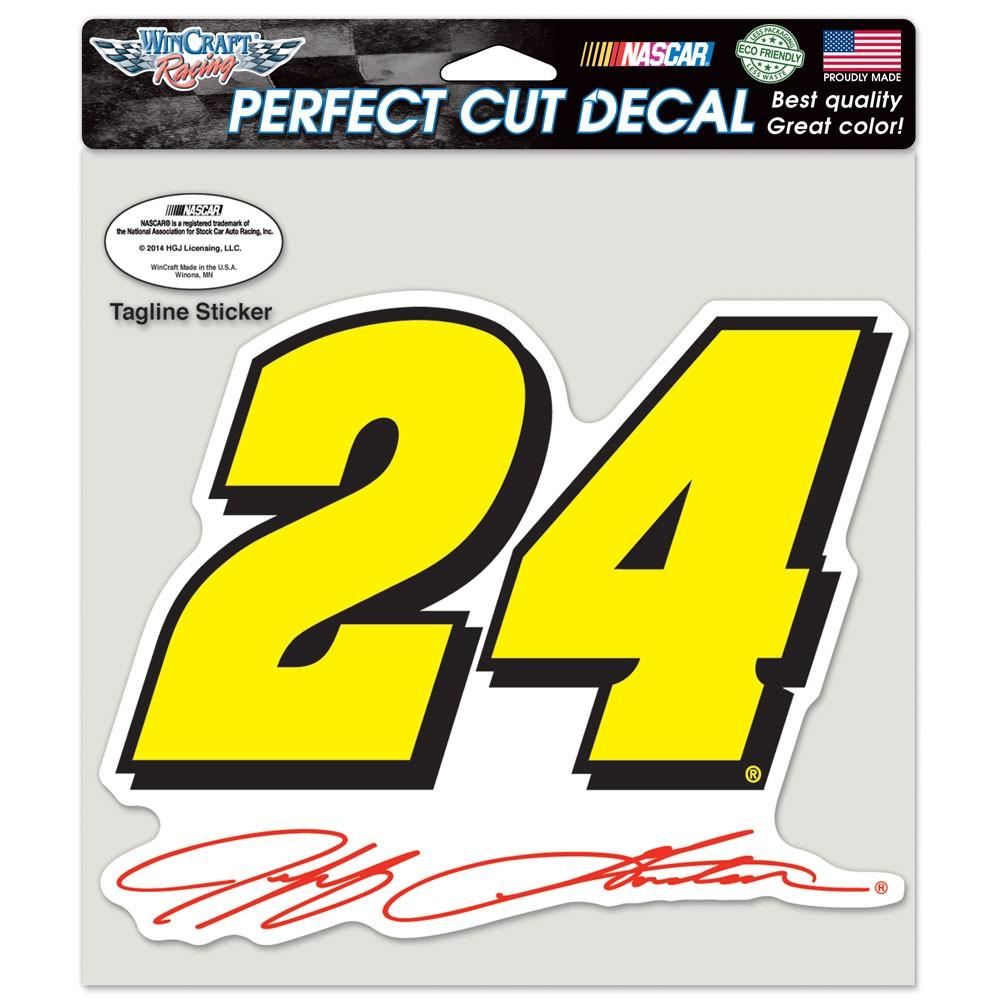 Jeff Gordon Official NASCAR 8 inch x 8 inch  Die Cut Car Decal by WinCraft