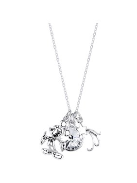 """Disney 10mm Clear Crystal Silver-Tone If You Can Dream It You Can Do It Mickey Mouse Necklace, 18"""""""