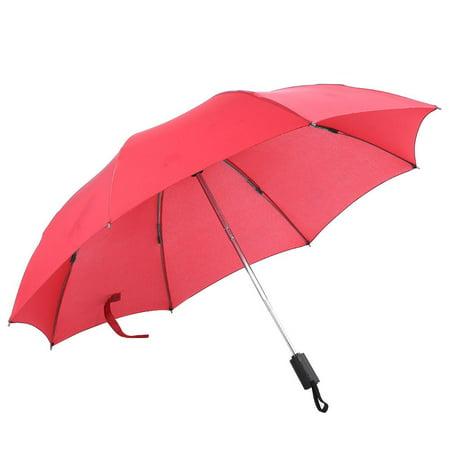 HERCHR Auto Open Outdoor Lightweight Waterproof Windproof Folding Umbrella for Women and Men, Red Foldable Umbrella, Auto Open Umbrella