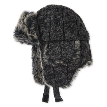 The Children's Place Big Boy Fur Cable Trapper Hat ()