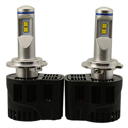 2017 Hot Sale 1 Pair 55W 5200Lm 6000K Auto Car Led Fog Headlight Bulbs Lamp Kit H7of High Quality