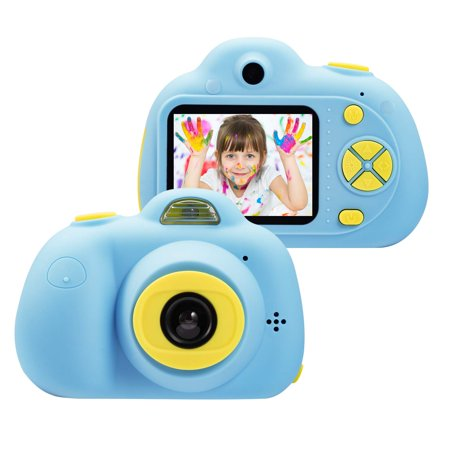 Kids Toys Camera for 3-6 Year Old Girls Boys, Compact Cameras for Children, Best Gift for 5-10 Year Old Boy Girl 8MP HD Video Camera Creative Gifts,Blue(16GB Memory Card Included),