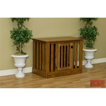 Pinnacle Woodcraft 81ec2544okac Entertainment Center Dog Crate Oak – Acres