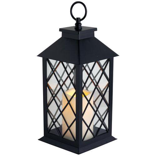 Westinghouse Pillar Lantern Set, Black