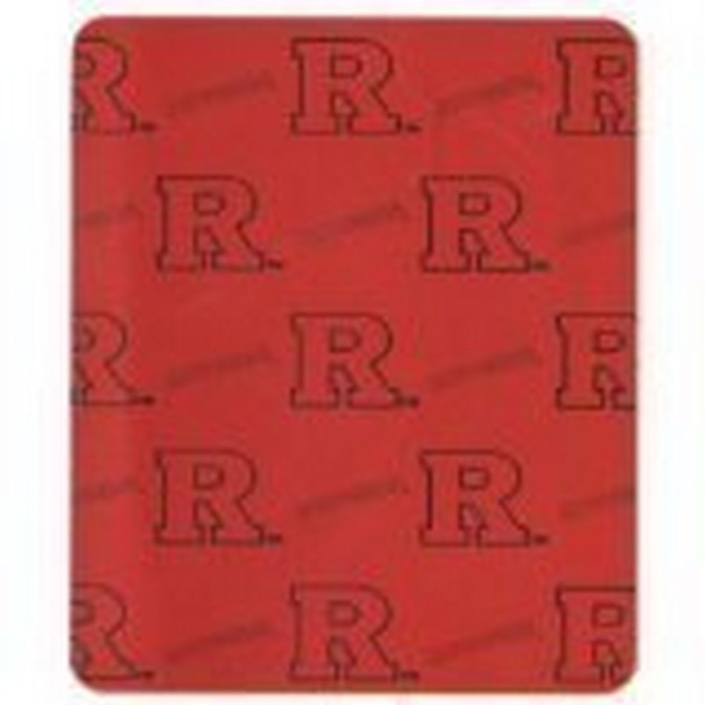 NCAA Officially Licensed Rutger Scarlet Knights Repeater Fleece Throw Blanket