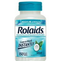 Rolaids Antacid/Calcium & Magnesium Supplement Regular Strength Chewable Tablets Mint - 150 CT