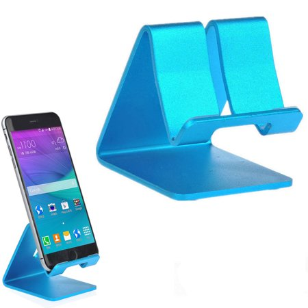 Universal Cell Phone Holder Desk Charger Stand Mount Alloy Aluminum Metal Surface Cradle Charge