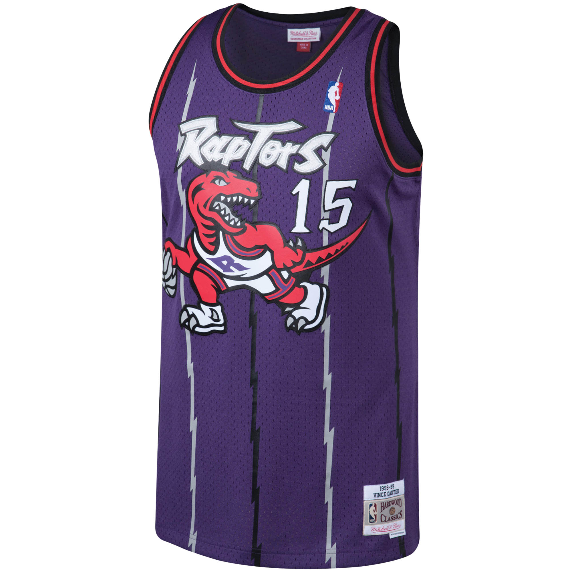 5e4db0051a8 Vince Carter Toronto Raptors Mitchell   Ness Big   Tall Hardwood Classics  Jersey - Purple - Walmart.com