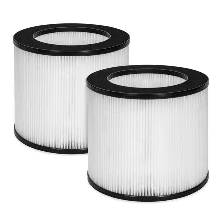 Best Choice Products Set of 2 Air Purifier Replacement Filter Parts with True HEPA and Fine Preliminary Layers for Allergens, Pet Dander, Dust, Bacteria, Pollen, Smoke, Mold, and (Best Pollen Filter For Car)