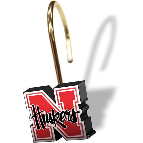 University of Nebraska Decorative Bath Collection - 12pc Shower Hooks