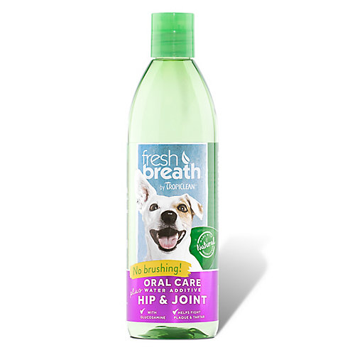 TropiClean Fresh Breath Fresh Breath Hip and Joint Plus Water Additive, 16 fl oz