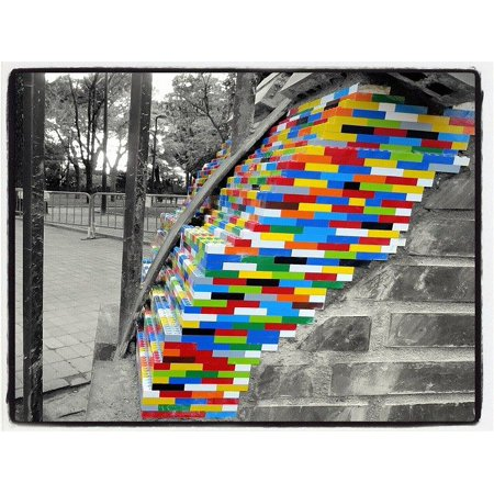 LAMINATED POSTER Urban Art Wall Splash Lego Lego Pieces Poster Print 24 x 36