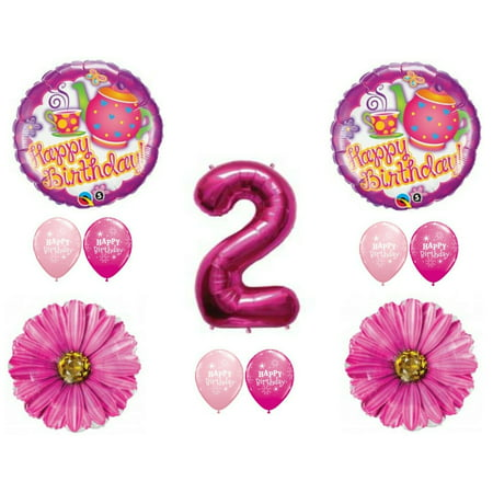 Tea For Two 2nd Birthday Party Balloons Decoration Supplies Second