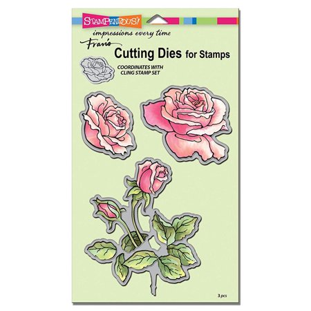Die Set Garden - Rose Garden Die Cut Set, The dies work well with paper, cardstock, foils, self-adhesive vinyl, acetate, and many other types of media By STAMPENDOUS