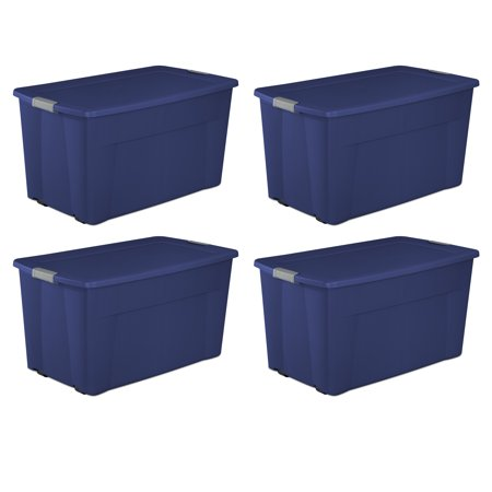 Sterilite, 45 Gal./170 L Wheeled Latch Tote, Stadium Blue, Case of (Sterilite 45 Gallon 170 Liter Wheeled Latch Tote)