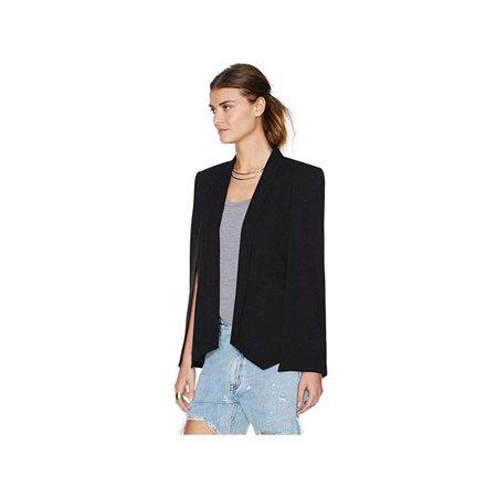 VICOODA Women's Coat Women's OL Office Suit Blazer Open Front Split Sleeves Cape Blazer