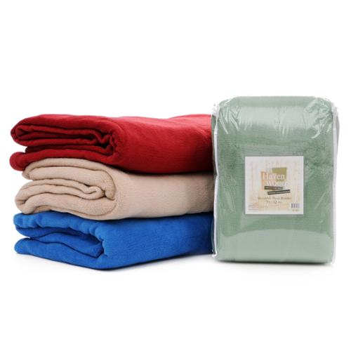 Slumber Shop Havenwood Microfiber Plush Blanket King Sage