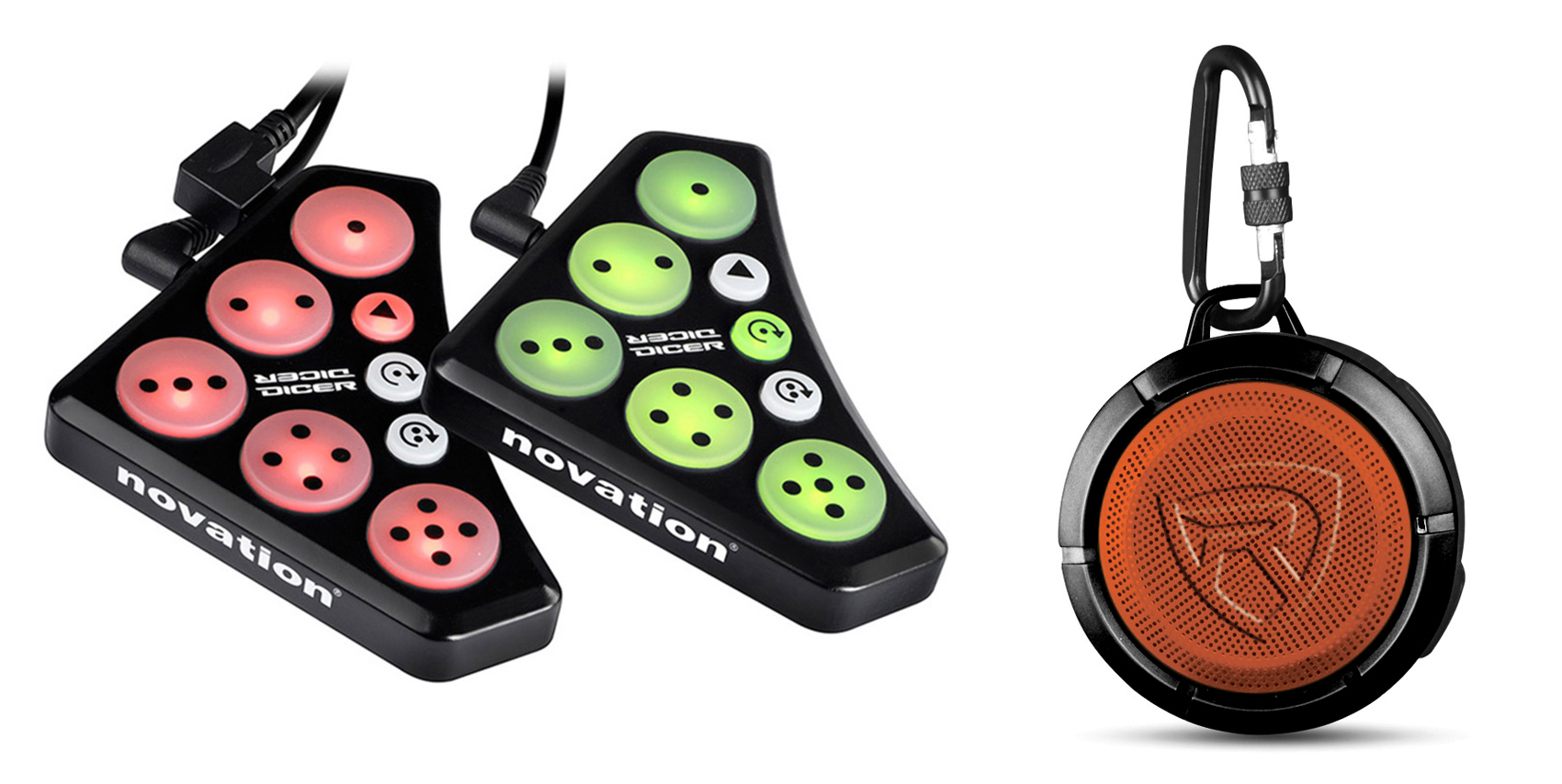 Novation DICER Digital Cue Point+Looping Serato Traktor DJ Controller+Speaker by Novation