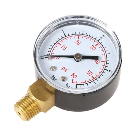 "50mm 0~60psi 0~4bar Pool Filter Water Pressure Dial Hydraulic Pressure Gauge Meter Manometer 1/4"" NPT Thread - image 6 de 7"