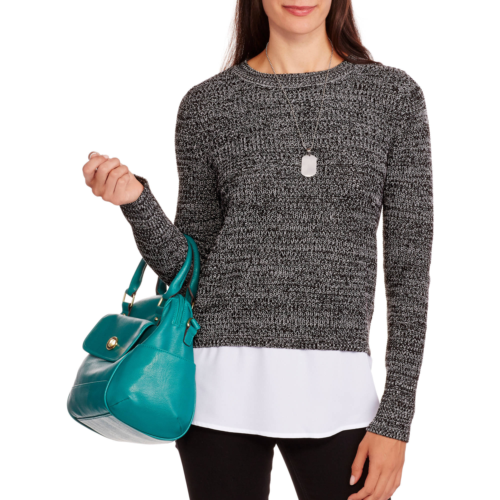 Faded Glory Women's Shaker 2for1 Sweater