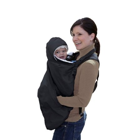 Jolly Jumper Snuggle Cover for Soft Baby Carriers, Black The Snuggle Cover is fleece lined with water repellent exterior to keep baby warm while in the soft baby carrier, stroller or car seat. It has a roll-away hood for baby, pockets for keeping adults hands warm, and even has access to baby through the pocket you can touch their little legs. The Snuggle Cover can also be used for protecting baby from the elements while in the stroller or car seat too - the ultimate multi-use item.Features:Water repellent, Fleece lined coverCovers all baby carriers and fits strollers and car seatsWater repellent 100% nylon outer, 100% poly fleece inner