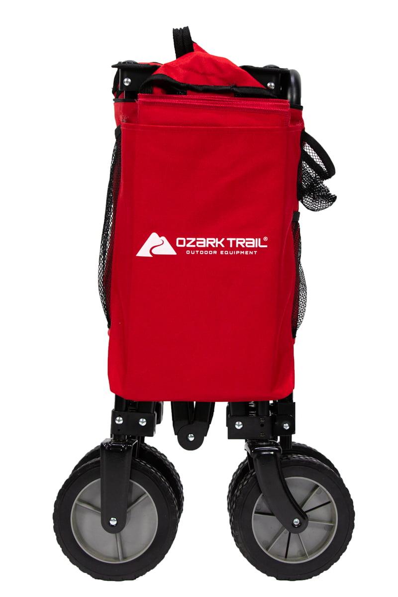 c66d91cdd6f6 Ozark Trail Quad Folding Wagon with Telescoping Handle, Red ...