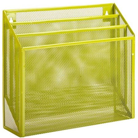 - Honey Can Do Steel Mesh Vertical File Sorter with 3 Bins, Lime