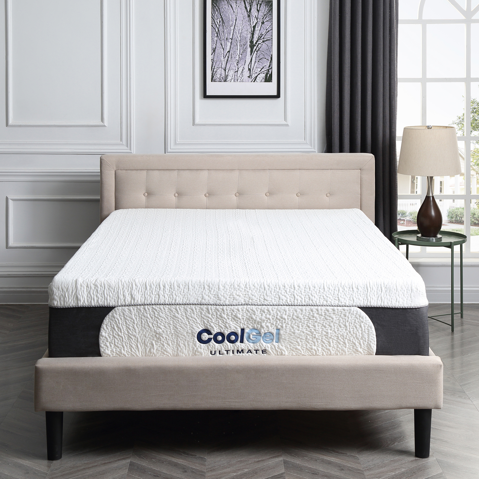 Modern Sleep Cool Gel Ultimate Gel Memory Foam 14-Inch Mattress with BONUS 2 Pillows, Queen